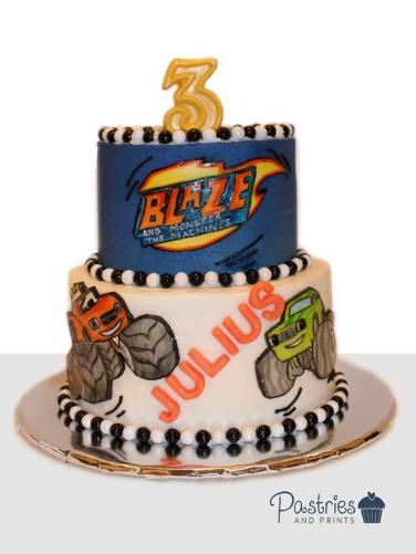 Kids Cakes - Blaze Truck Cake