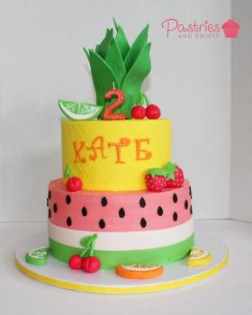 Kids Cakes - Fruit Tutti Cake
